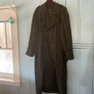 Vintage BROOKS BROTHERS Microfiber Lined Trench